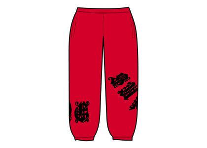 Supreme Old English Wrap Sweatpant Red (SS21)の写真