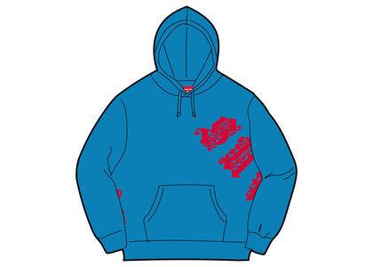 Supreme Old English Wrap Hooded Sweatshirt Blue (SS21)の写真