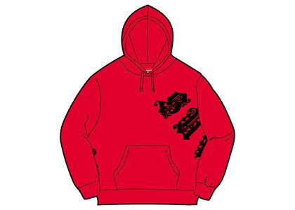 Supreme Old English Wrap Hooded Sweatshirt Red (SS21)の写真