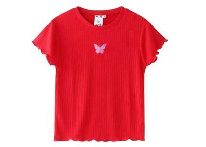 X-Girl Butterfly Baby Top Redの写真