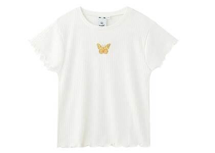 X-Girl Butterfly Baby Top White/Orangeの写真