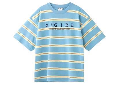 X-Girl Striped H/S Tee Blueの写真