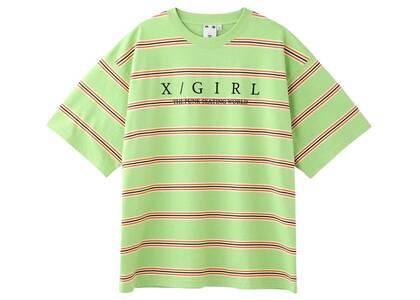 X-Girl Striped H/S Tee Greenの写真
