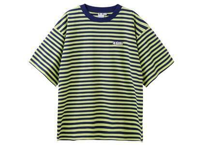 X-Girl Striped H/S Tee Navyの写真