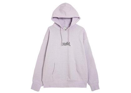 X-Girl Outline Mills Logo Sweat Hoodie Light Purpleの写真