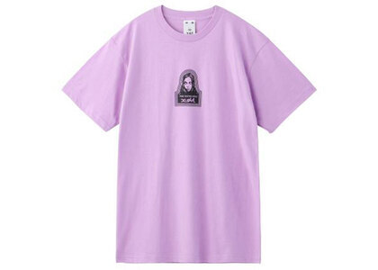 X-Girl Face S/S Mens Tee Purpleの写真