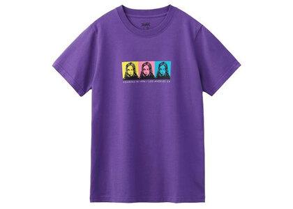 X-Girl Face S/S Regular Tee Purpleの写真