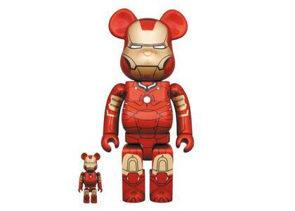 Be@rbrick Iron Man Mark III 100% & 400%の写真