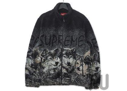 Supreme Wolf Fleece Jacket Blackの写真