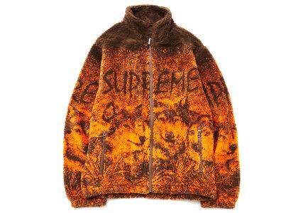 Supreme Wolf Fleece Jacket Brownの写真