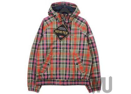 Supreme GORE-TEX Hooded Harrington Jacket Olive Plaidの写真