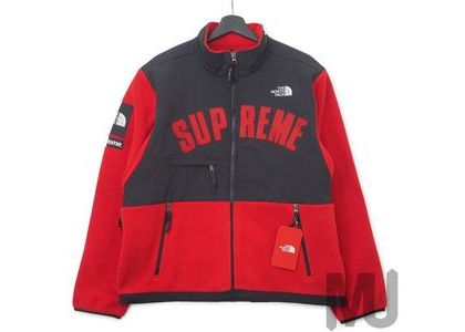 Supreme The North Face Arc Logo Denali Fleece Jacket Redの写真
