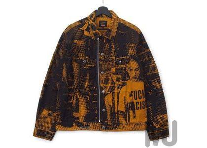 Supreme Jean Paul Gaultier Fuck Racism Trucker Jacket Goldの写真