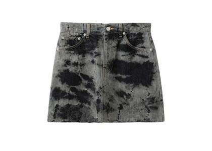 X-Girl Bleached Denim Skirt Blackの写真