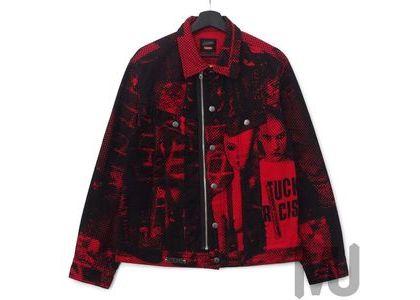 Supreme Jean Paul Gaultier Fuck Racism Trucker Jacket Redの写真