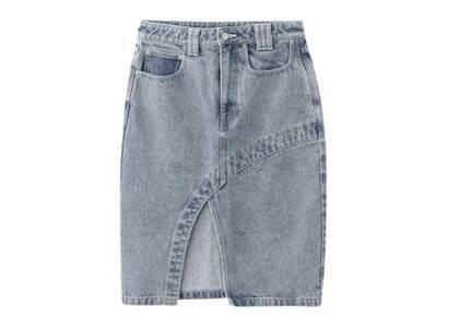 X-Girl Bleached Tight Skirt Light Blueの写真