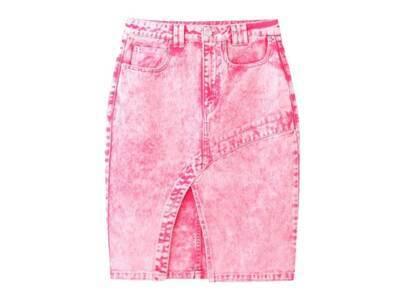 X-Girl Bleached Tight Skirt Pinkの写真