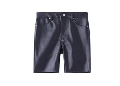 X-Girl Faux Leather BIKER Pants Blackの写真