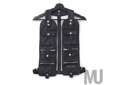 Supreme Jean Paul Gaultier Pinstripe Cargo Suit Vest Blackの写真