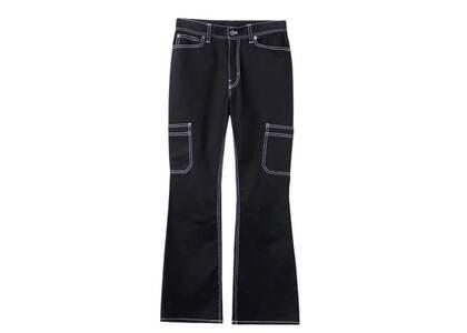X-Girl Flare Work Pants Blackの写真
