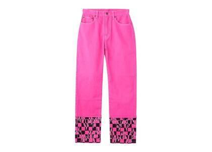 X-Girl Hotrod Straight Pants Pinkの写真