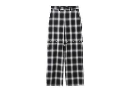 X-Girl Ombrere Plaid Wide Leg Pants Grayの写真