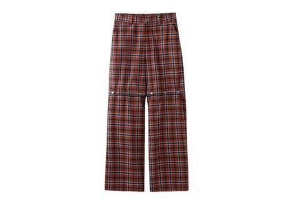 X-Girl Ombrere Plaid Wide Leg Pants Brownの写真