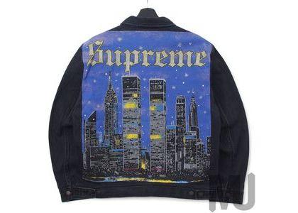 Supreme New York Painted Trucker Jacket Blackの写真