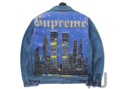 Supreme New York Painted Trucker Jacket Blueの写真