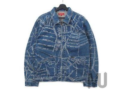 Supreme Gonz Map Work Jacket Washed Blueの写真