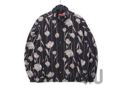 Supreme Floral Silk Track Jacket Blackの写真
