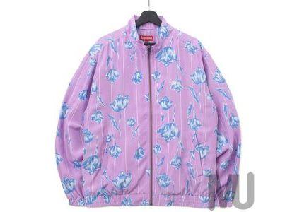 Supreme Floral Silk Track Jacket Purpleの写真