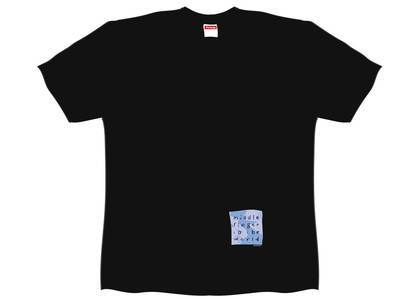 Supreme Middle Finger to the World Tee Blackの写真