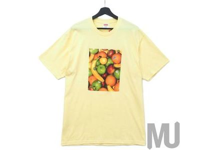 Supreme Fruit Tee Pale Yellowの写真