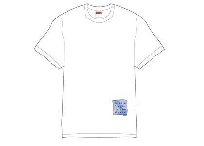 Supreme Middle Finger to the World Tee Whiteの写真