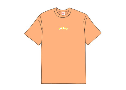 Supreme Fronts Tee Neon Orangeの写真