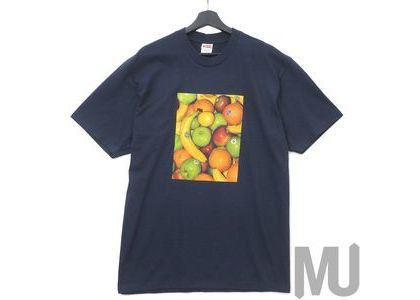 Supreme Fronts Tee Navyの写真