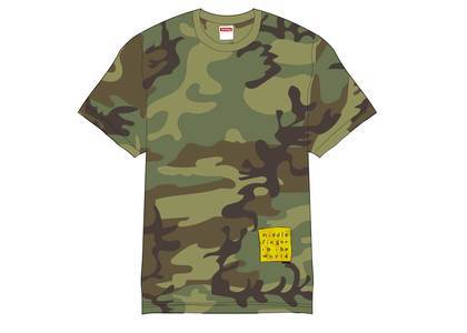 Supreme Middle Finger to the World Tee Woodland Camoの写真