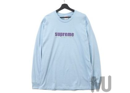 Supreme The Real Shit L-S Tee Light Blueの写真