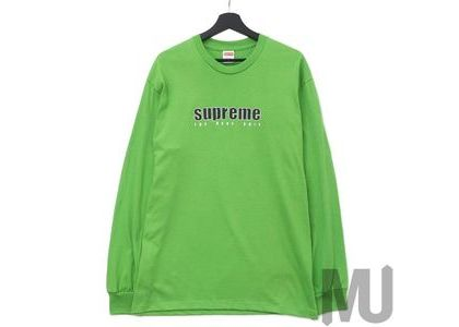 Supreme The Real Shit L-S Tee Greenの写真