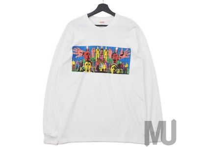 Supreme Gilbert & George DEATH AFTER LIFE L-S Tee Whiteの写真