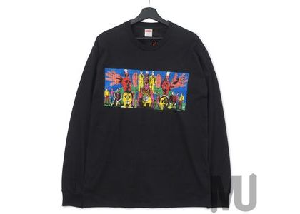 Supreme Gilbert & George DEATH AFTER LIFE L-S Tee Blackの写真