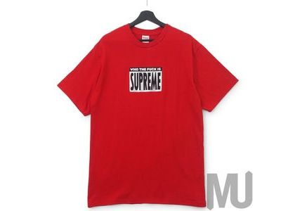 Supreme Who The Fuck Tee Redの写真