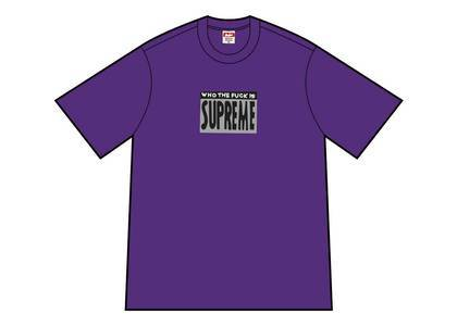 Supreme Who The Fuck Tee Purpleの写真