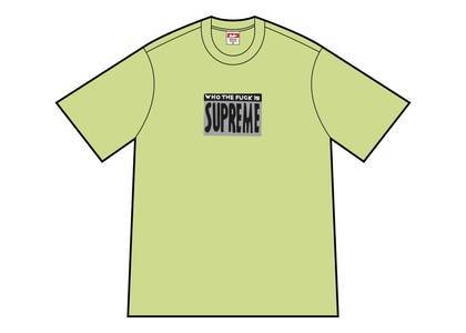Supreme Who The Fuck Tee Neon Greenの写真