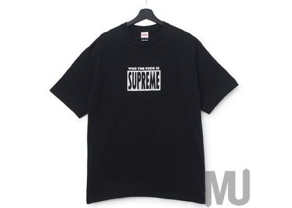 Supreme Who The Fuck Tee Blackの写真