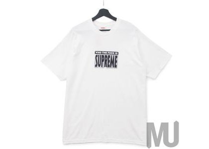 Supreme Who The Fuck Tee Whiteの写真