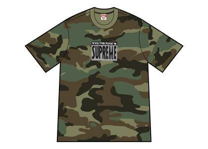 Supreme Who The Fuck Tee Woodland Camoの写真