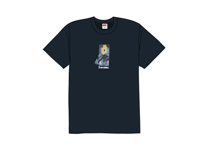 Supreme Ghost Rider Tee Navyの写真