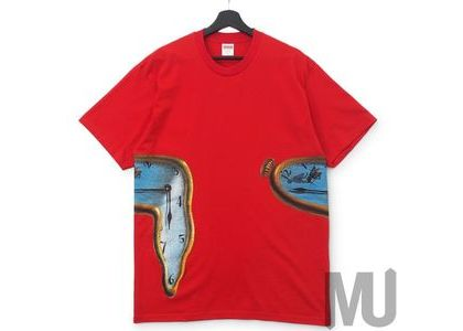 Supreme The Persistence Of Memory Tee Redの写真